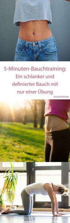 5-Minuten-Bauchtraining: Bauch weg mit dieser Übung! | Wunderweib