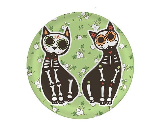 Cat Melamine Plate Cat anatomy skeleton Cat Lover Gift | Plates With ...