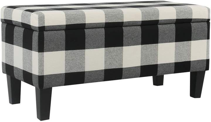 Stupendous Homepop Bailey Printed Storage Ottoman Bench Products In Machost Co Dining Chair Design Ideas Machostcouk