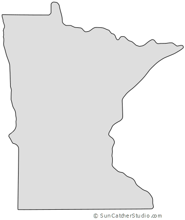 Minnesota Map Outline Printable State Shape Stencil Pattern Free Stencils Printables Map Quilt Map Outline