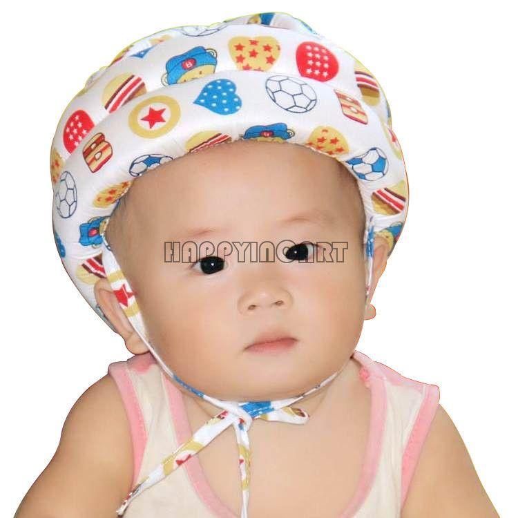 US Baby Kids Safety Helmet Head Protector Hat Headguard Walking Cap Adjustable