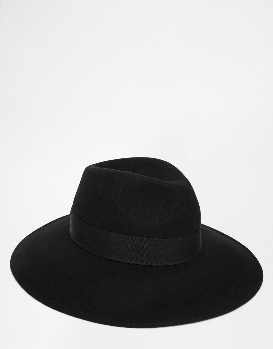 4e1e5c7eaeb6db Fedora Hat In Black Felt With Wide Brim | 25th Birthday | Fedora hat ...