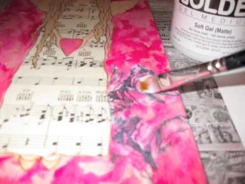 We love decoupage and layers! This is an awesome video on using unique layers.
