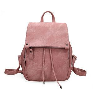 82c310450f49 DOLOVE 2017 College Wind Shoulder Bag Women Bag PU Leather Women s Travel  Bag Soft Purple Solid Fashion Women s Backpack