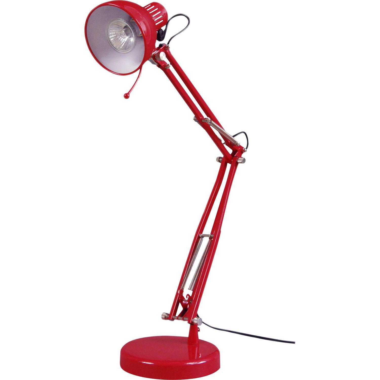 Lampe De Bureau Rouge Sunset Inspire Leroy Merlin