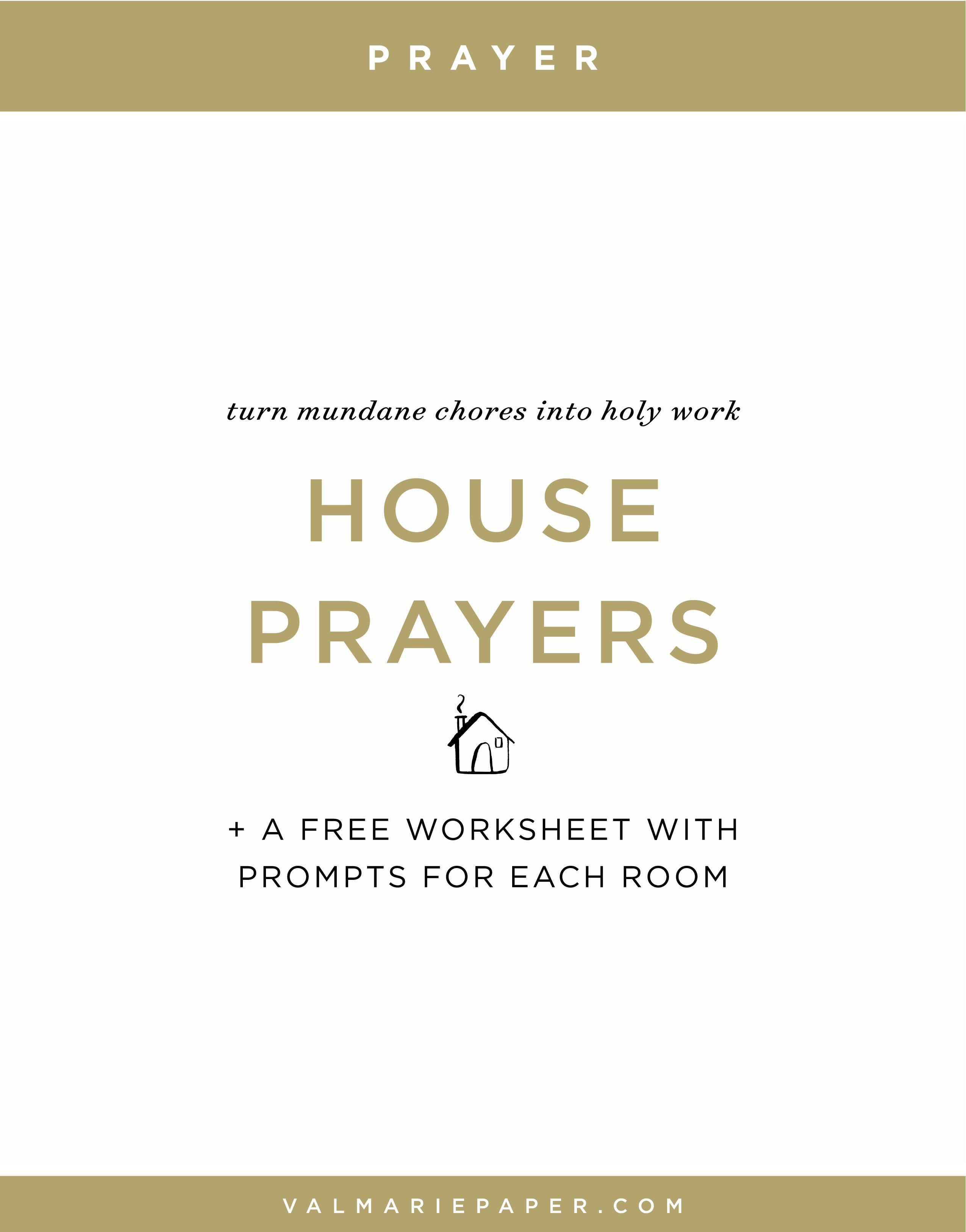 House Prayers Worksheet