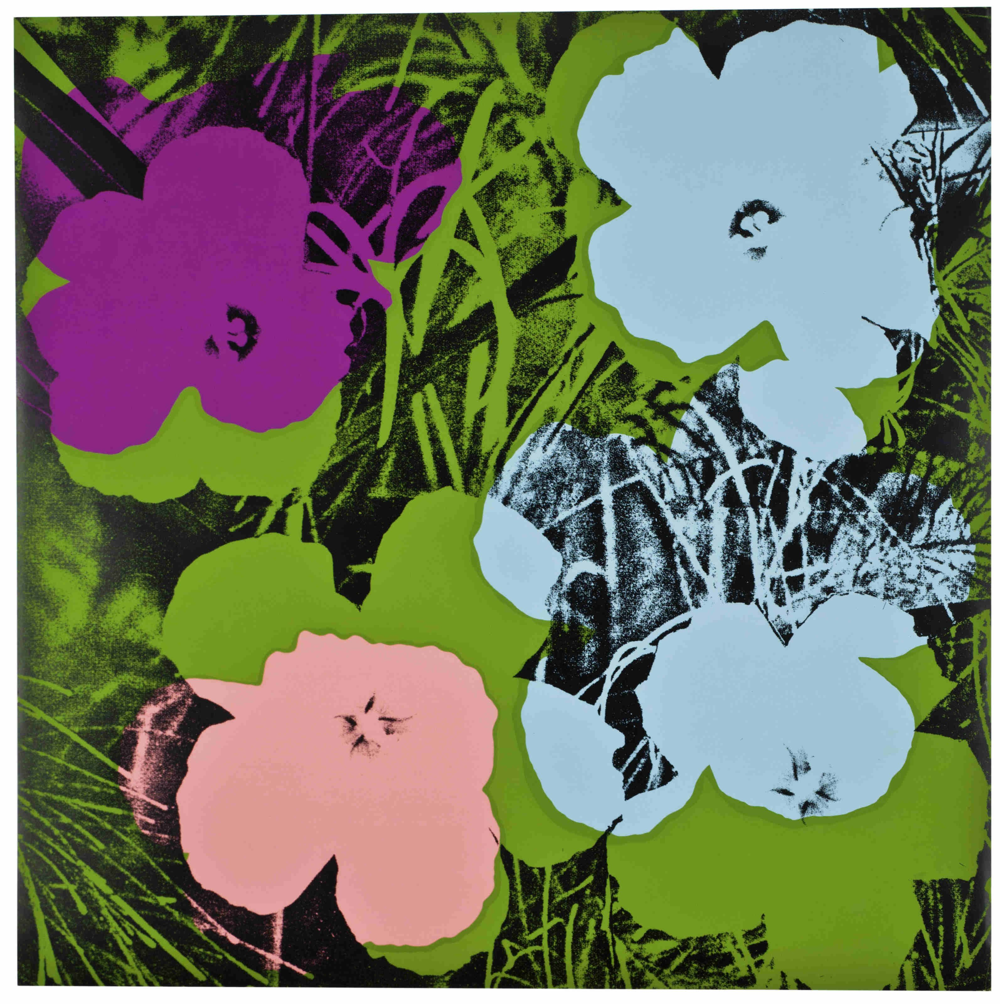 Flowers: one plate   Warhol, Paintings and Artist