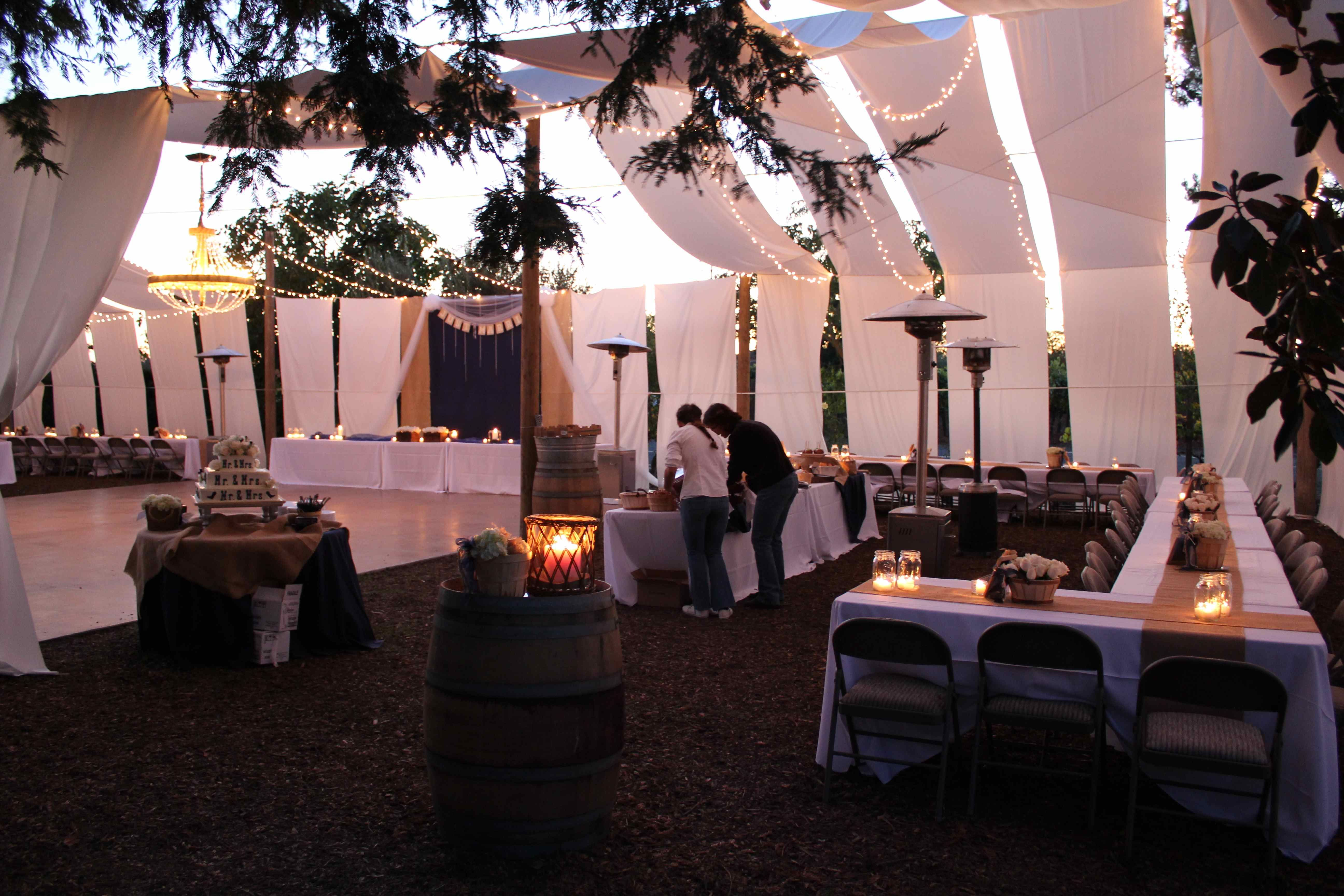 Homemade Tent   If You Canu0027t Afford To Rent A Tent Consider Making One · Backyard  Wedding ...