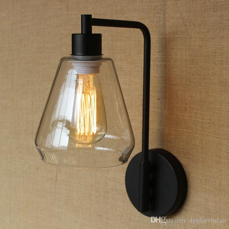Christmas Retro Wall Lamps Personalized Christmas Gifts Vintage Iron Wall Sconce Transparent Glass Shade High Quality Paint Hallway Outdoor From Dpgkevinfan, $92.68 | Dhgate.Com