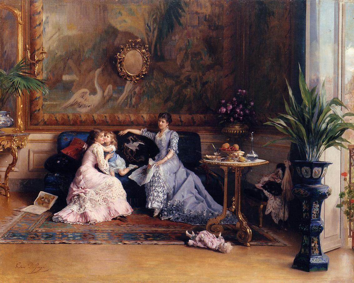 The Athenaeum - The Afternoon Visit (Gustave-Leonard de Jonghe - No dates listed)