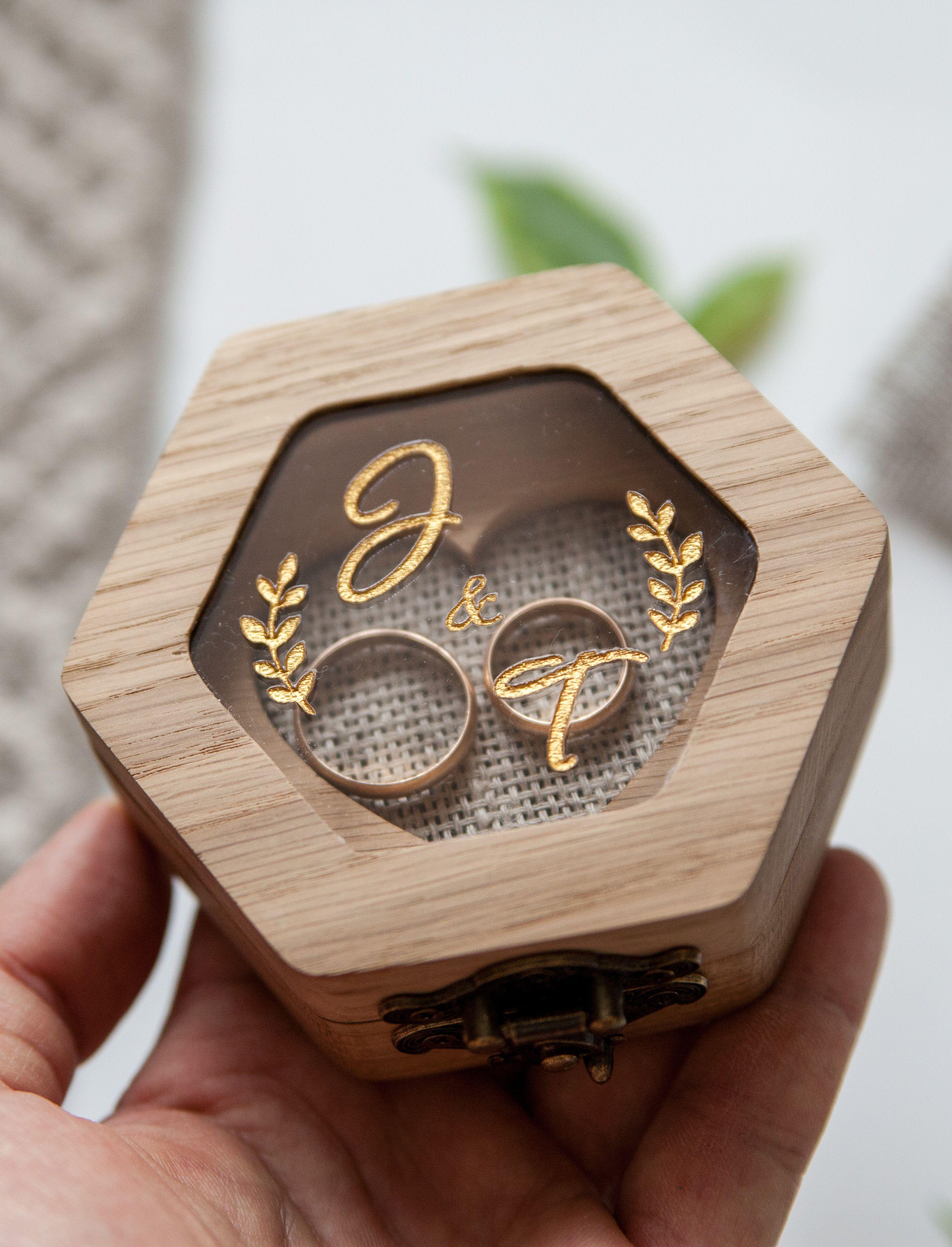 Engraved Ring Box Wedding Rings Box Engraved Wedding Ring Box Ring Bearer Box Engagement Ring Holder Customized Wedding Ring Box