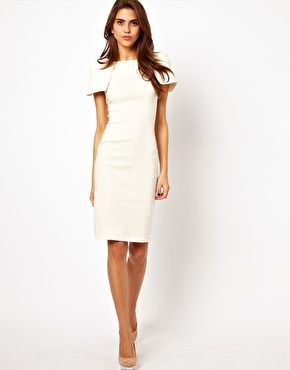 Vesper Pencil Dress with Shoulder Detail