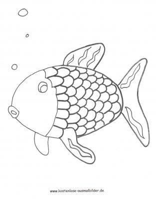 Fernsehen Fernsehen Ausmalen Regenbogenfisch Fisch Vorlage Ausmalbilder