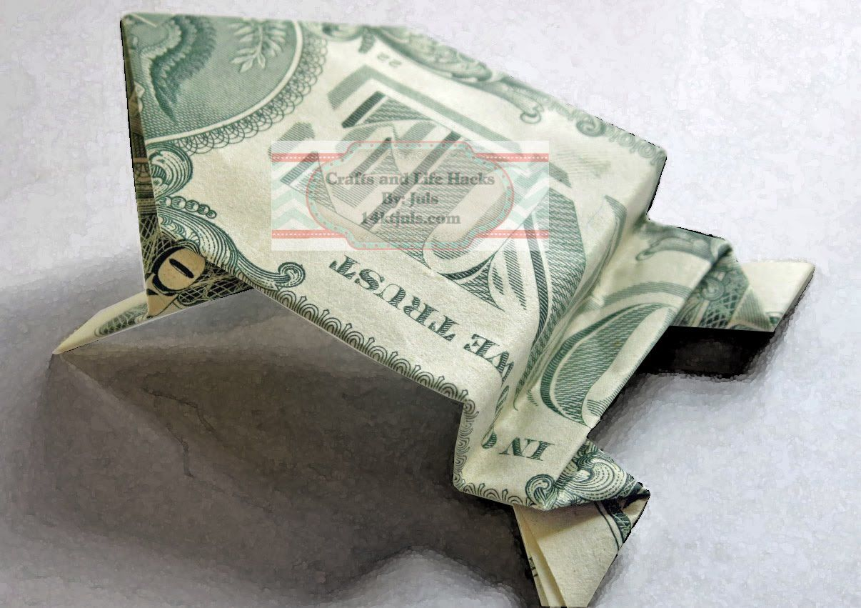 Dollar Bill Origami Jumping Frog FREE Tutorial | Origami ... - photo#42