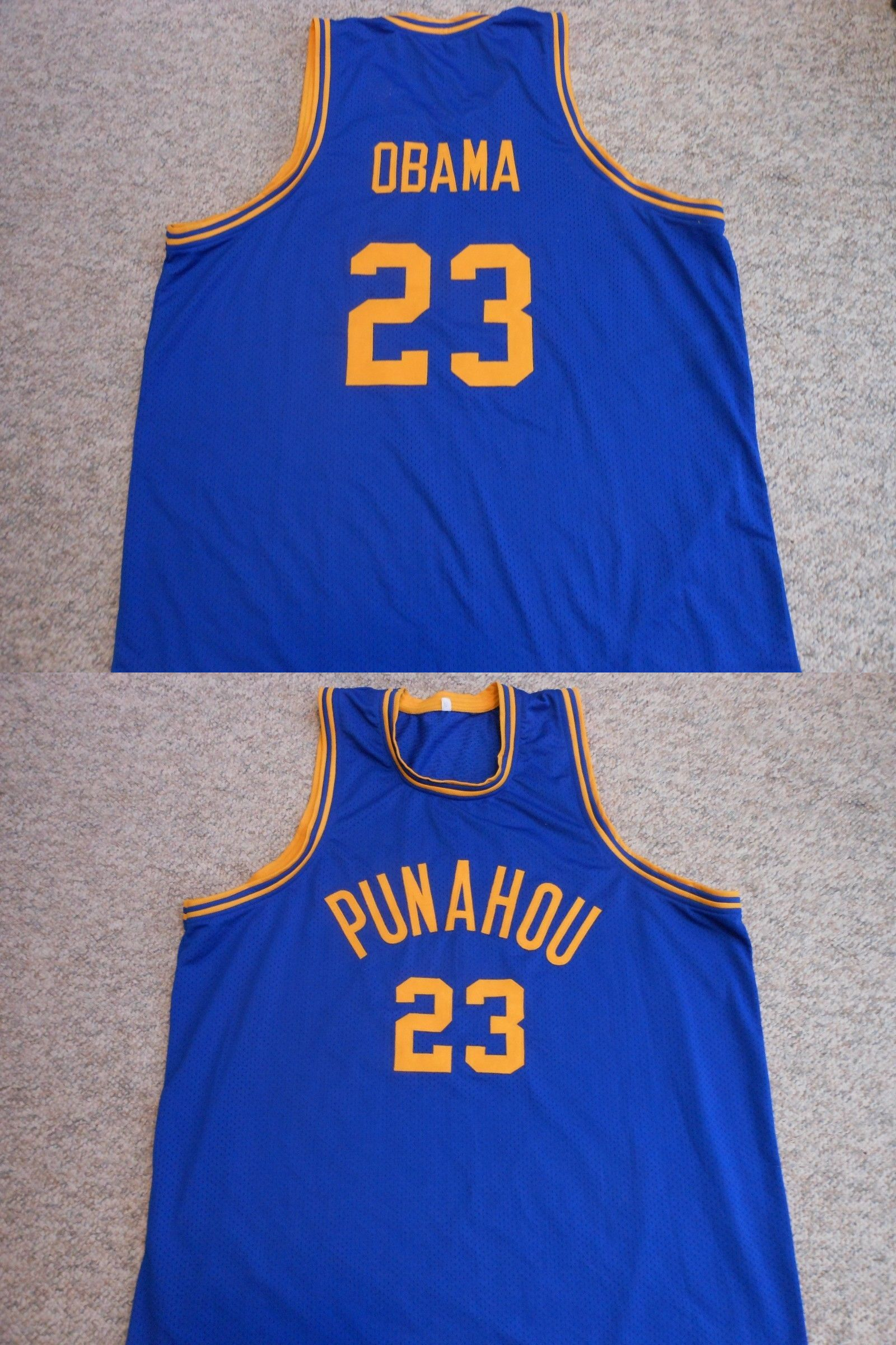 2de2d7518a5b Basketball-Other 205  Punahou High School  23 Barack Obama Sewn Basketball  Jersey (