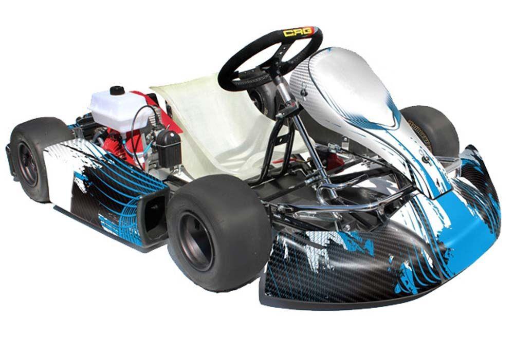 CRG JR Cadet Shifter Kart (New Age Body) Graphics - Carbon X - Blue