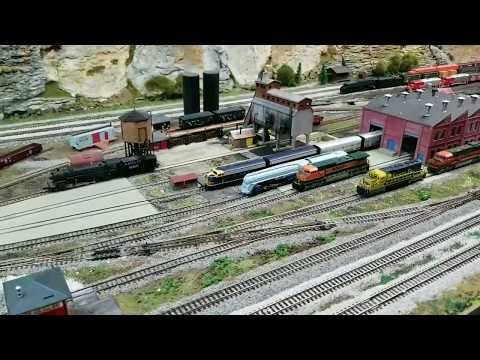 N Scale Train Layout At The Ohio Valley Lines 2018/2019 Open House