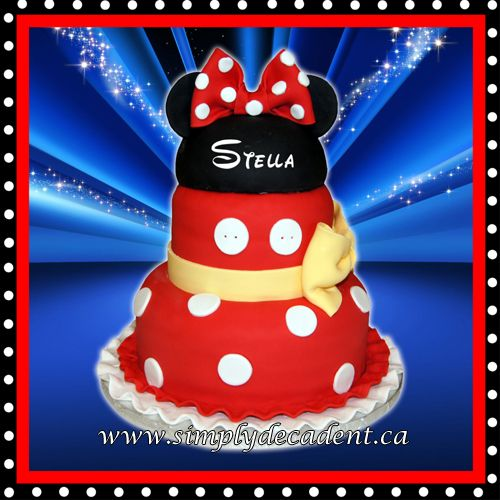 2 Tier Fondant Disney Minnie Mouse Birthday Cake Birthday Cakes
