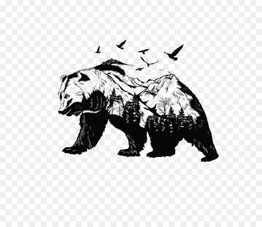 Free Bear Silhouette Tattoo Download Free Clip Art Free Clip Art On Clipart Library Polar Bear Tattoo Bear Tattoo Designs Bear Tattoos