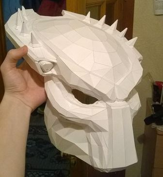 Life Size Predator Mask Papercraft Ver3 Free Template Download