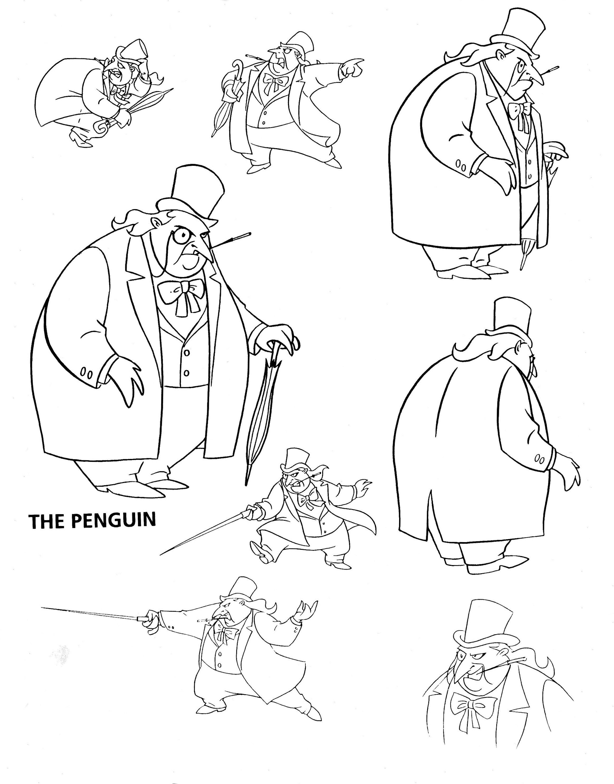 Batman dark knight coloring pages - Penguin In Batman Cartoon Google Search