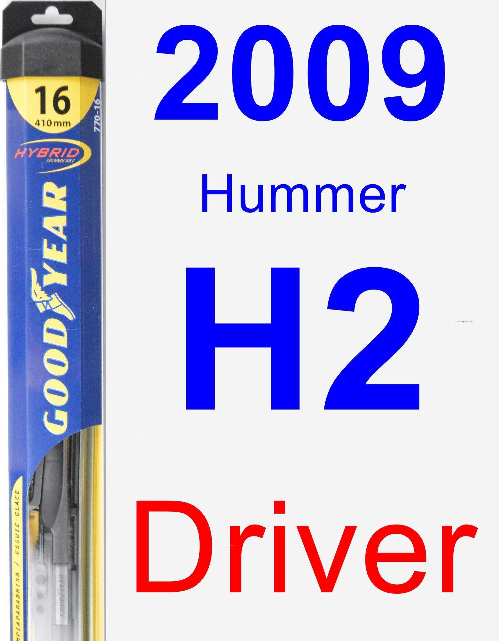 Driver Wiper Blade for 2009 Hummer H2 - Hybrid