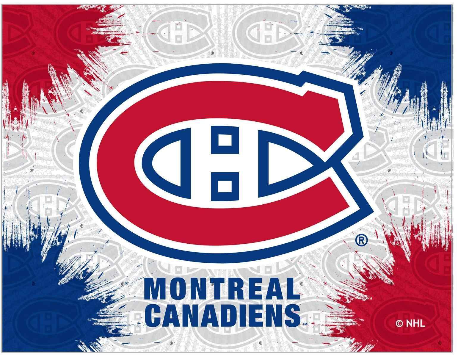 Montreal canadiens hbs gray red hockey wall canvas art picture print