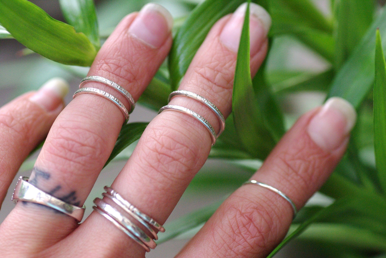 Midi Wrap Ring, Sterling Silver Ring Simple Midi Rings Silver Wrap ...
