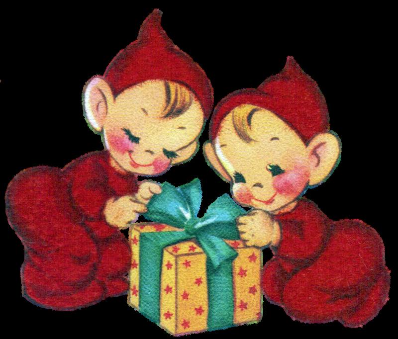 Vintage Christmas pixies