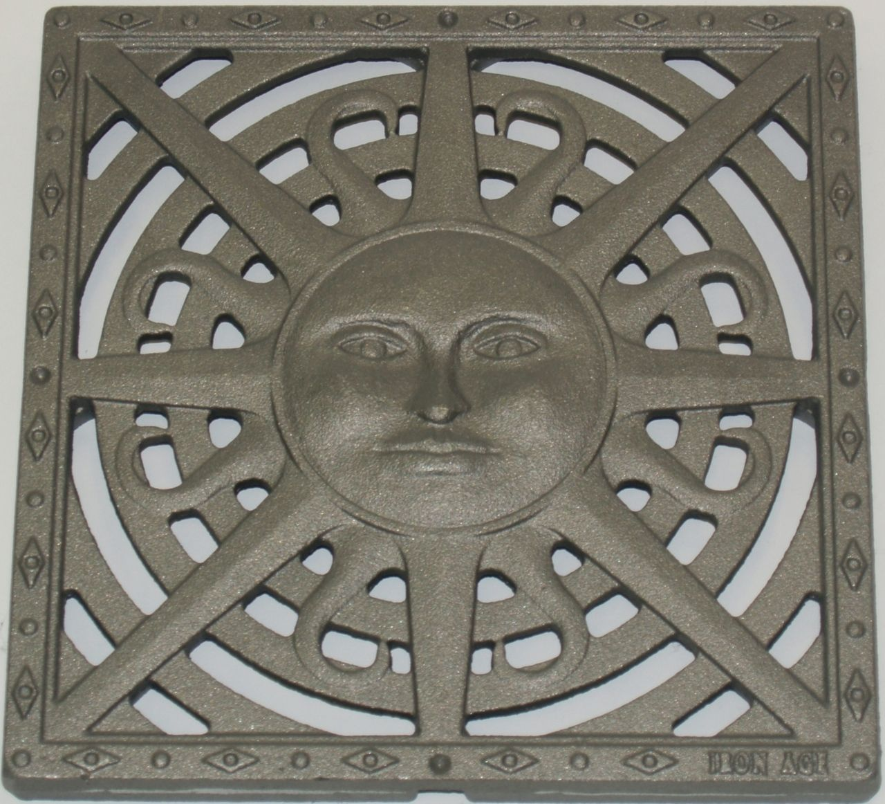 Iron Age Raw Cast Iron Sun Drain Grate For 12 Basin Iron Age Cast Iron Iron