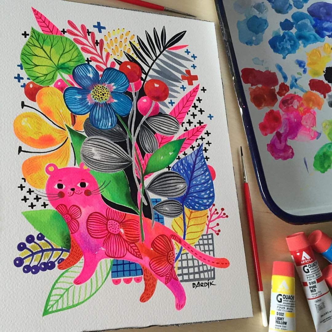 First Experiment With The Holbein Acryla Gouache Reporting Back