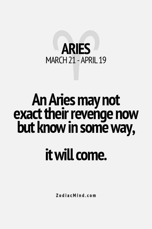 Revenge on an aries man