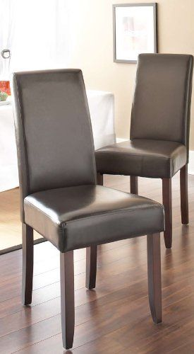Set Of 4 Matiese Modern And Contemporary Faux Leather Upholstered
