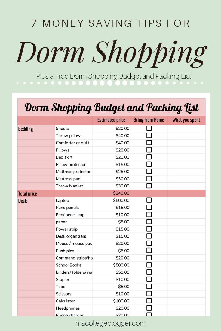 7 Money Saving Tips for Dorm Shopping images