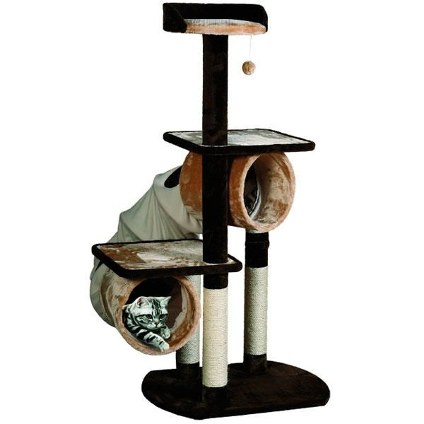 cat tree with seal slide swing rope and toys cat trees toys cats chic cat furniture