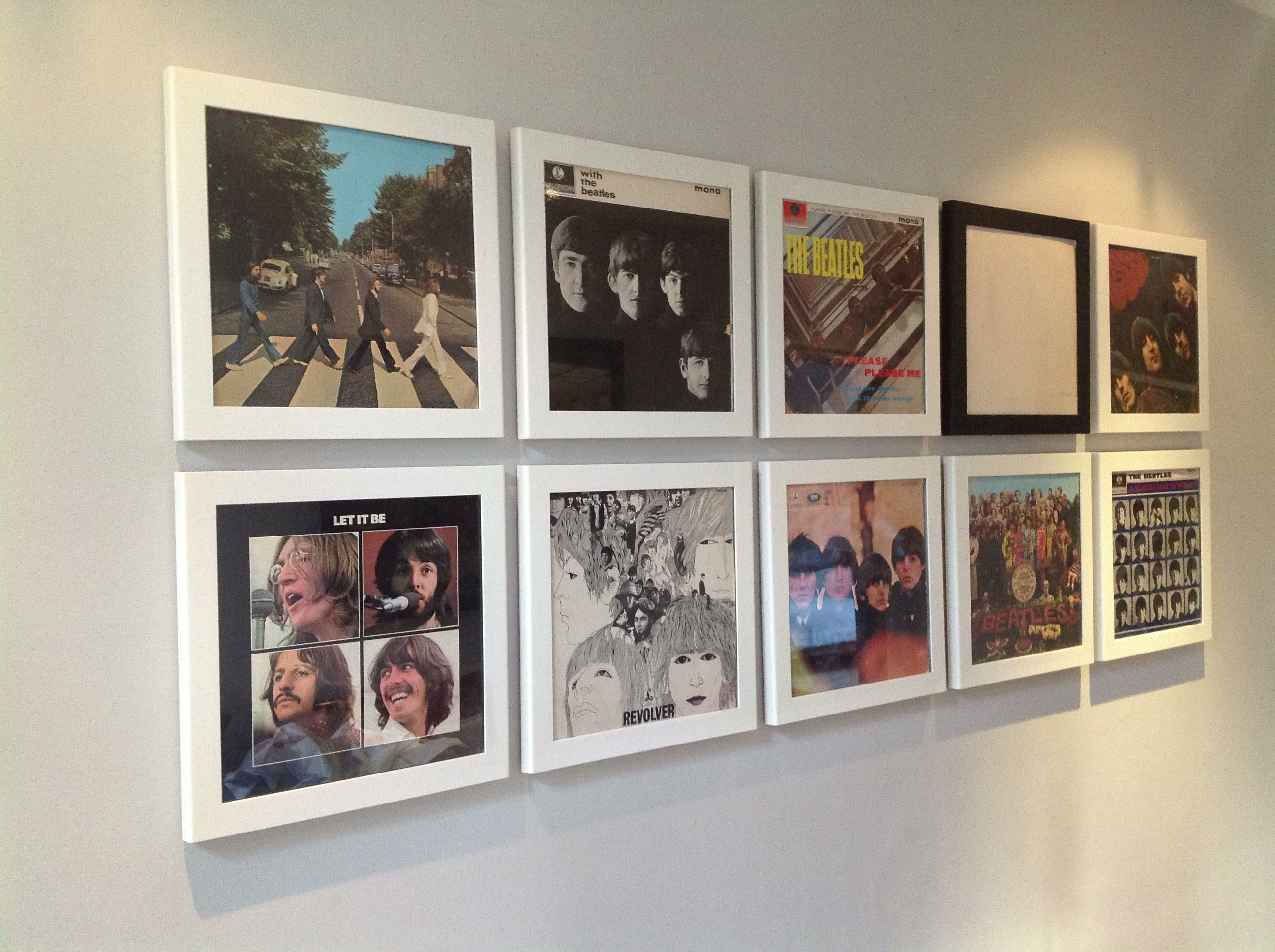 Great Idea For Cheap Wall Art Old Album Covers In
