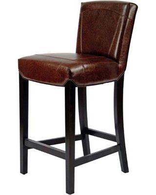 Stools Ken Barstool Brown Leather HUD8203A