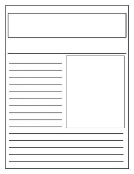 newspaper article template fourth grade escuela. Black Bedroom Furniture Sets. Home Design Ideas