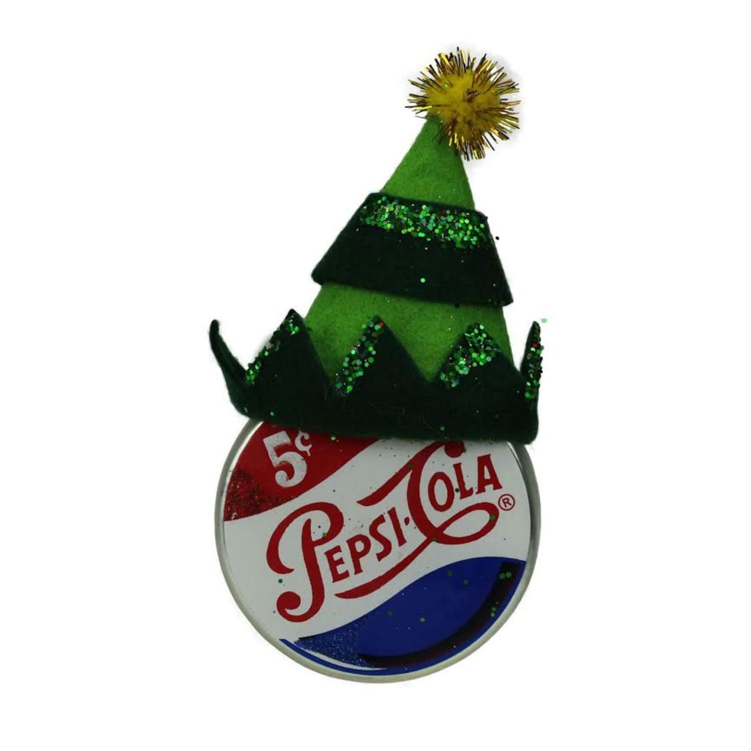 475 Green Jester Hat On Pepsi Logo Puck Shaped Decorative