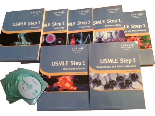 $189.99 Kaplan USMLE Lecture Step 1 Notes 2013-2014 with Videos DVDs ...