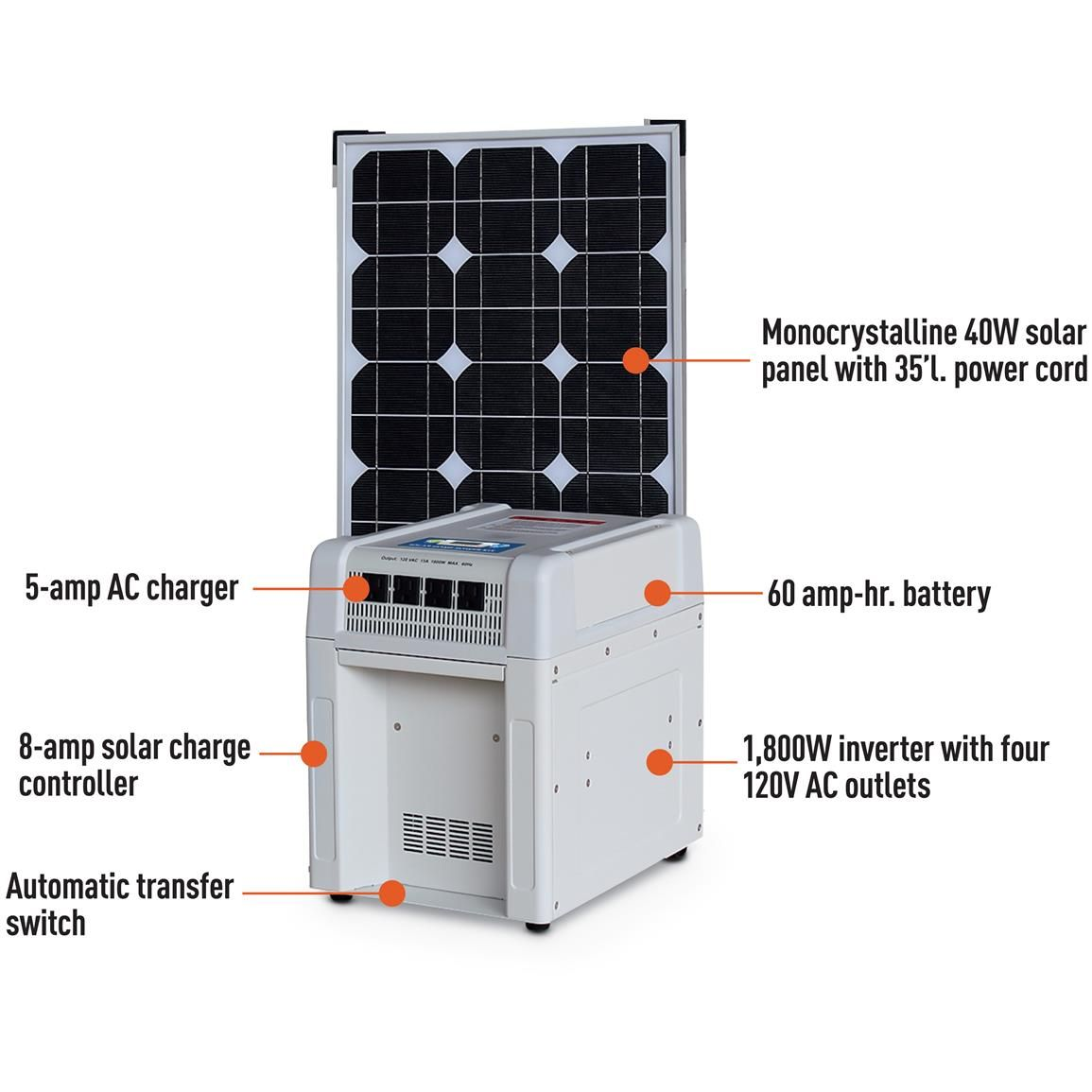 Nature Power Solar Home Rv Power Kit 1 800 Watts Solar Power Charger Solar Panel Cost Solar Power Inverter