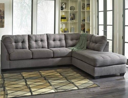 2-Pc Sectional Sofa in Charcoal Finish, Black Products in 2018