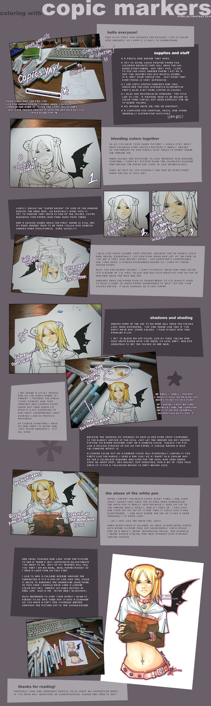 Copic Marker Tutorial by *finni on deviantART
