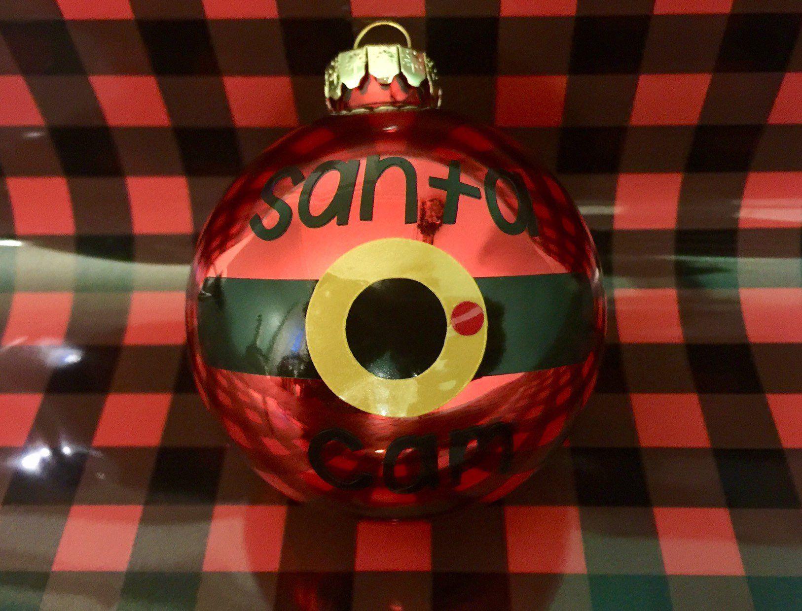 Santa Cam, ornament cam, ornament santa cam, North Pole