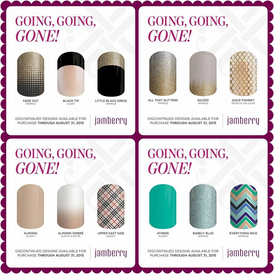over 100 wraps are retiring ! check to see if your faves are on the list  https://tjlopez.jamberry.com/category/going-going-gone