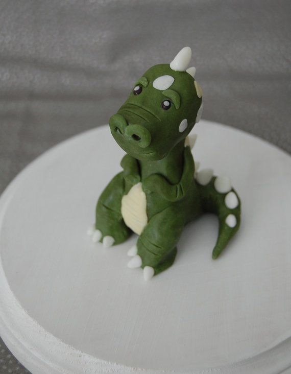 Tiny TRex Dinosaur Fondant Figure Fondant figures Cake and