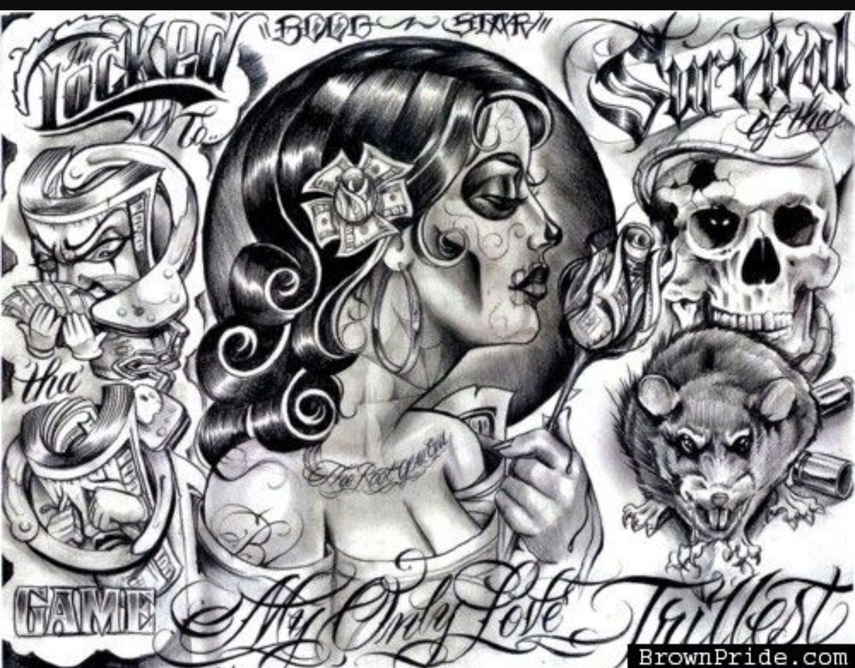 Pin By Og Cin On Og Chicano Art Chicano Tattoos Prison Art