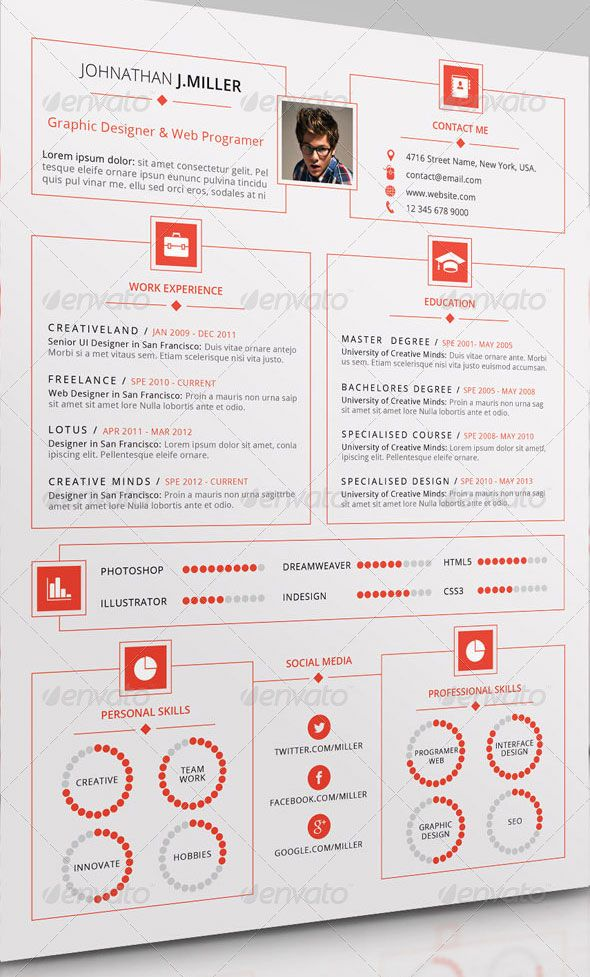 20 Creative Infographic Resume Templates Bashooka Exemple De Cv Original Curriculum Vitae Cv Inspiration