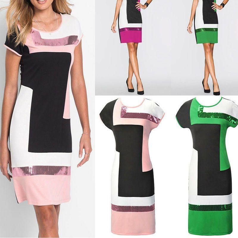 Neu Damen Knielang Buro Kleid Stretchkleid Etuikleid Partykleid Abendkleid S Xl Etuikleid Ideas Of Etuikleid Etuikleid Etuikleid Partykleid Party Kleider