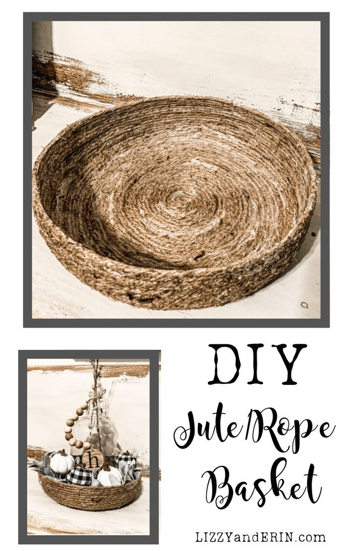 DIY Jute-Rope Basket Step by Step Instructions
